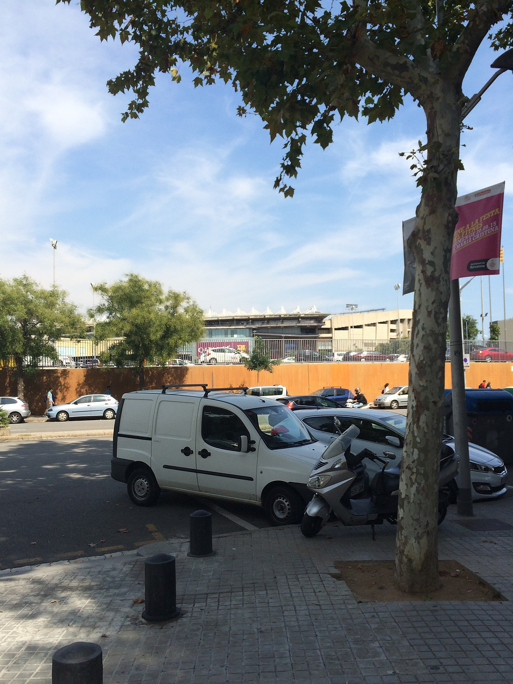 The Camp Nou across the street from MBP's office!