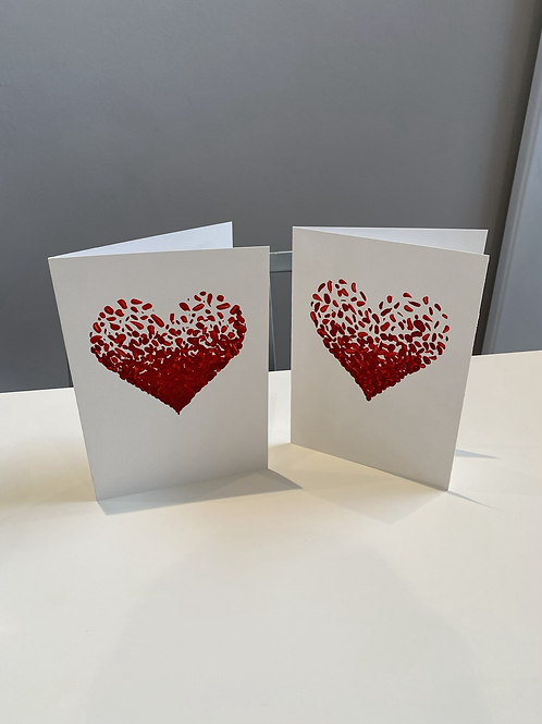 Hand Painted Heart Card