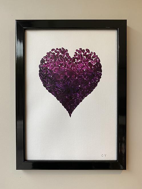 Framed Purple Piece of My Heart lI