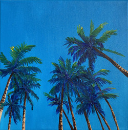 Summer Palms, 30x30CM, £250