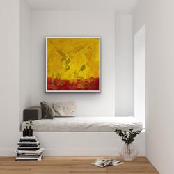 Flow 2, 100x100cm, Sold