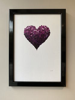 Purple Piece of My Heart l, A4, £75
