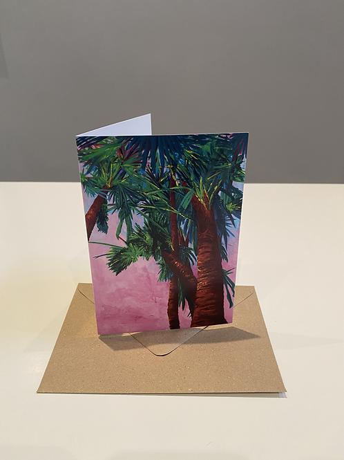 Sunset Palms Card