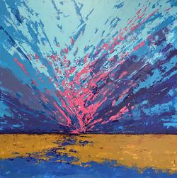 Sundown, 100x100cm, £2,450