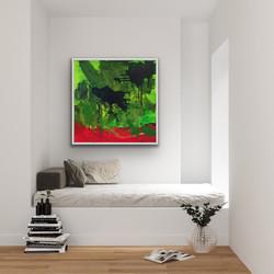 Flow 1, 100x100cm, Sold