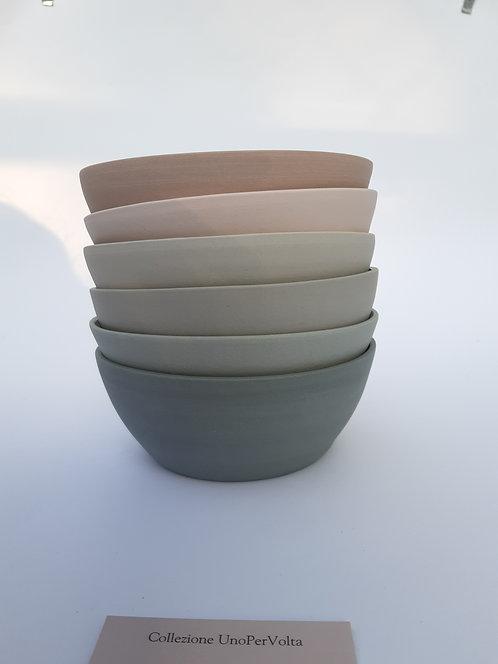 Servizio da 6 bowls (diametro 15 cm) collezione UnoPerVolta