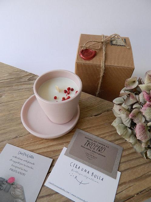 UNA tazzina caffè/candela con cera di soia collezione UnoPerVolta