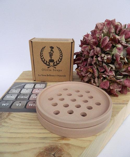 Porta sapone con 1 sapone artigianale (pronta consegna)