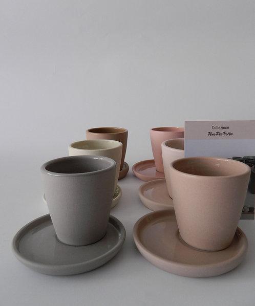 Servizio da 6 tazzine caffè UnoPerVolta (pronta consegna)