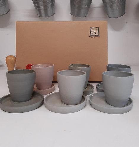 Servizio da 6 tazzine caffè UnoPerVolta (pre-ordine)