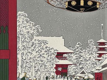 東京の雪景色と浮世絵