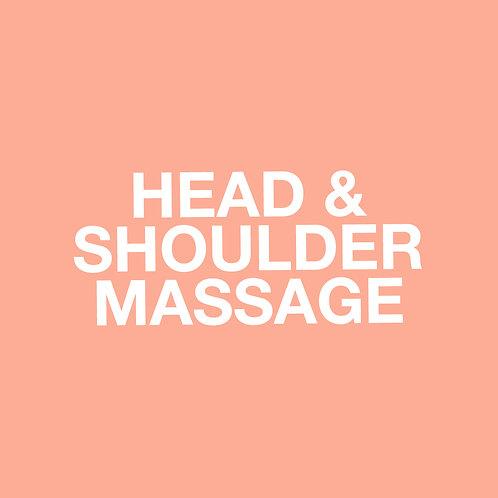 HEAD & SHOULDER MASSAGE (30 mins) GIFT VOUCHER