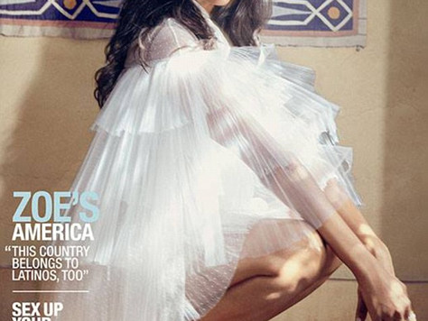 Zoe Wears Valentino on The Cover of Latina Magazine