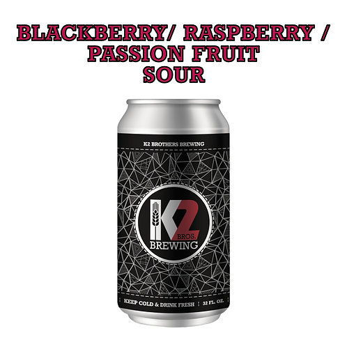 Blackberry/Raspberry/Passion Fruit Sour (32oz. Crowler)