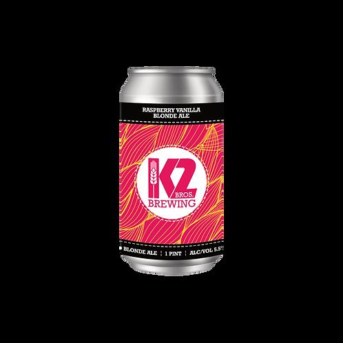 Raspberry Vanilla Blonde Ale (16oz.) 4-pack