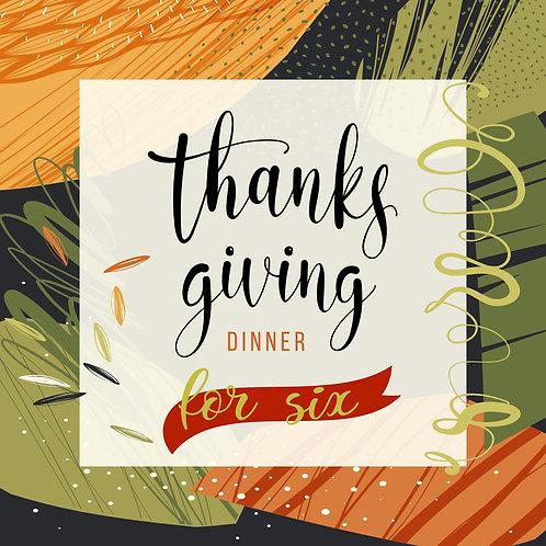 Thanksgiving Dinner for 6