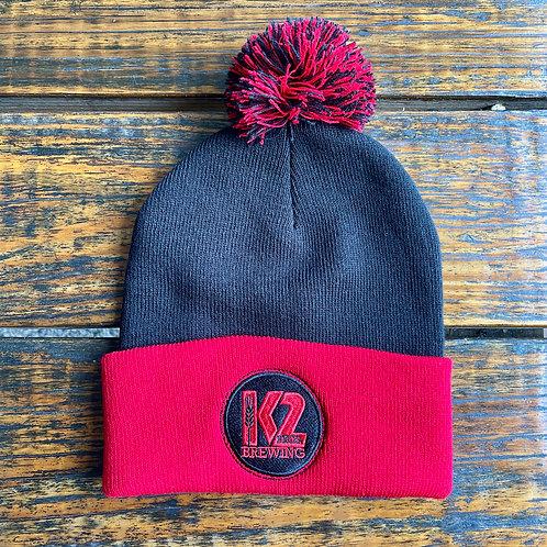 K2 Red/Black Pom Hat