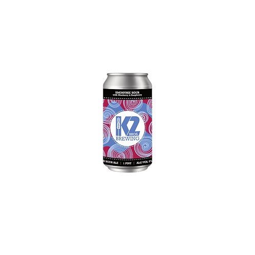Smoothie Sour with Blueberry & Raspberry (16oz.) 4-pack