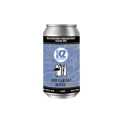 Blueberry Breakfast Sour IPA (Collab with Iron Flamingo)  (16oz.) 4-pack