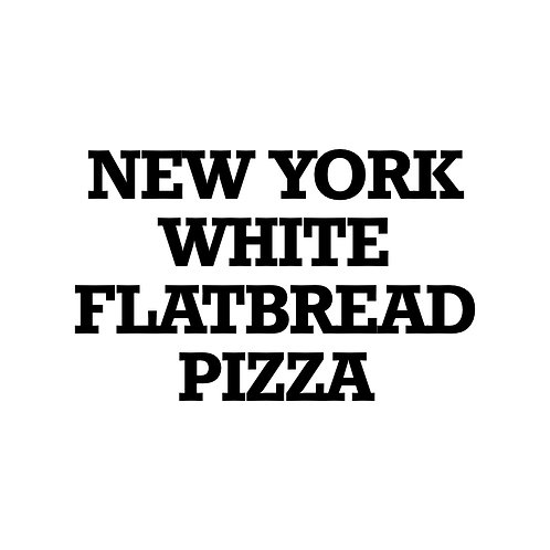 New York White Flatbread Pizza
