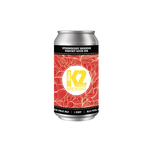 Strawberry Banana Parfait Sour IPA (16oz.) 4-pack