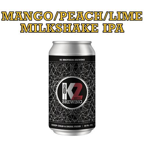 Mango/Peach/Lime Milkshake IPA (32oz. Crowler)