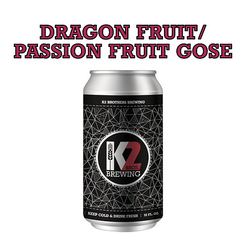 Dragon Fruit/Passion Fruit Gose (32oz. Crowler)