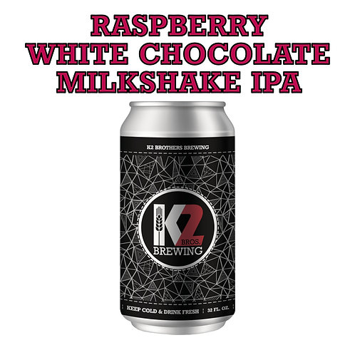 PILOT BATCH: Raspberry White Chocolate Milkshake IPA (32oz. Crowler)