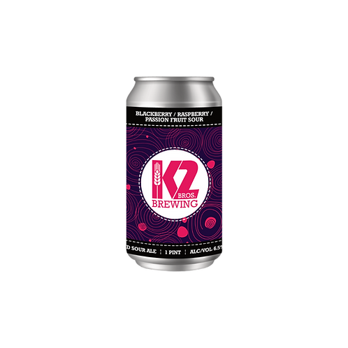 Blackberry/Raspberry/Passion Fruit Sour (16oz.) 4-pack