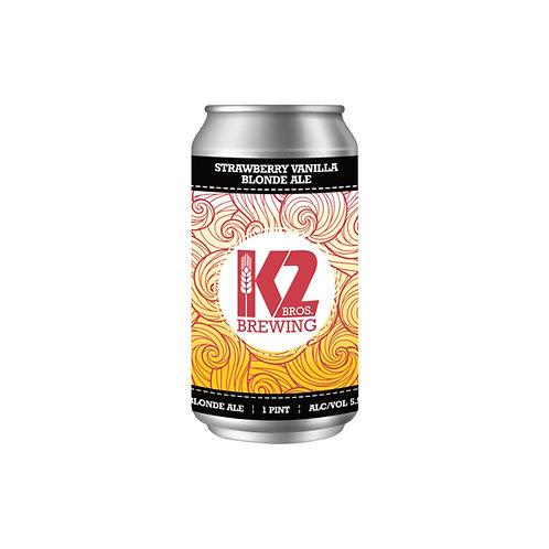 Strawberry Vanilla Blonde Ale (16oz.) 4-pack