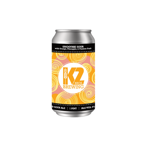 Smoothie Sour with Orange, Pineapple, & Passion Fruit (16oz.) 4-pack