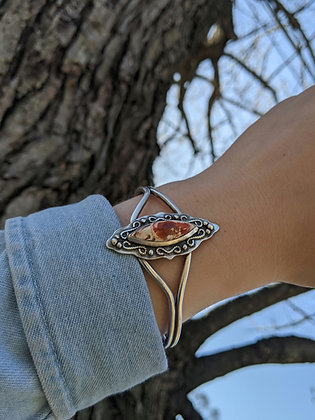 Aged Fire Opal Cuff