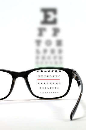 Eyes test chart with eyeglasses..jpg