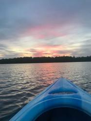 Close look at a Pike Lake sunset