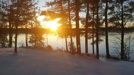 A beautiful early Decem-ber morning