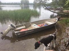 A wayward boat after a storm