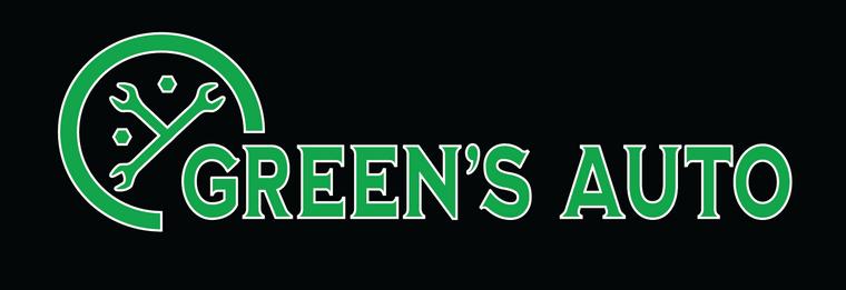 Green's Auto Logo Design (Updated Design)