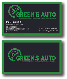 Front and Back Business Cards Design