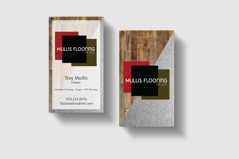 Front and Back Business Card Design