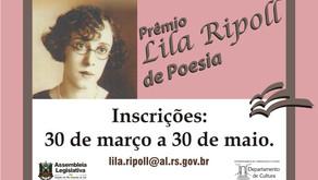 Prêmio Lila Ripoll de Poesia 2019 está com as inscrições abertas
