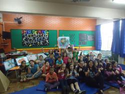 Autor presente  Escola Gladis Rita 2018.