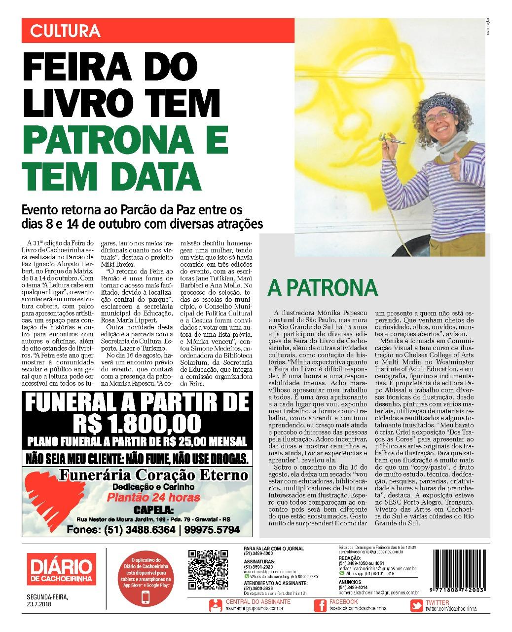 matéria_jornal_Feira_do_Livro_Cachoeirin