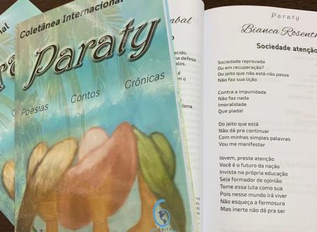 """Meu poema """"Sociedade atenção"""" foi classificado no 30º Concurso Internacional de Poesias"""