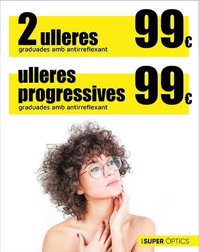 promoción dos gafas antirreflejante progresivas graduadas