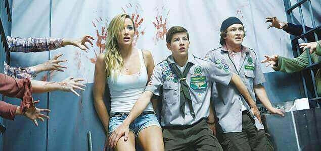 A scene from Christopher Landon's Scouts Guide to the Zombie Apocalypse. It's a teen zombie-comedy movie released in 2015.