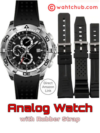 Best Men's Analog Watch with Rubber Strap