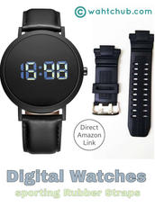 Best Digital Watches for Men with Rubber Straps