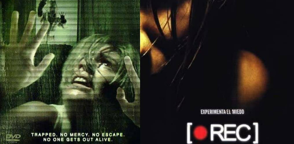 REC (2007) Poster collage - REC is one of the scariest zombie movies. It is a Spanish Found-Footage Zombie Movie.