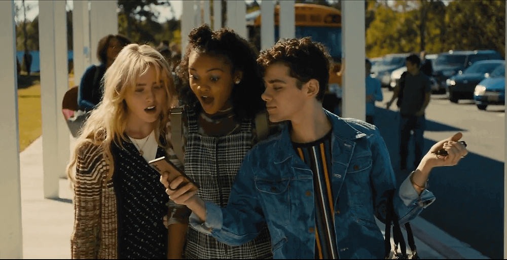 Millie (Kathryn Newton) and her two best friends - Celeste O'Connor as Nyla Chones and Misha Osherovich as Josh Detmer