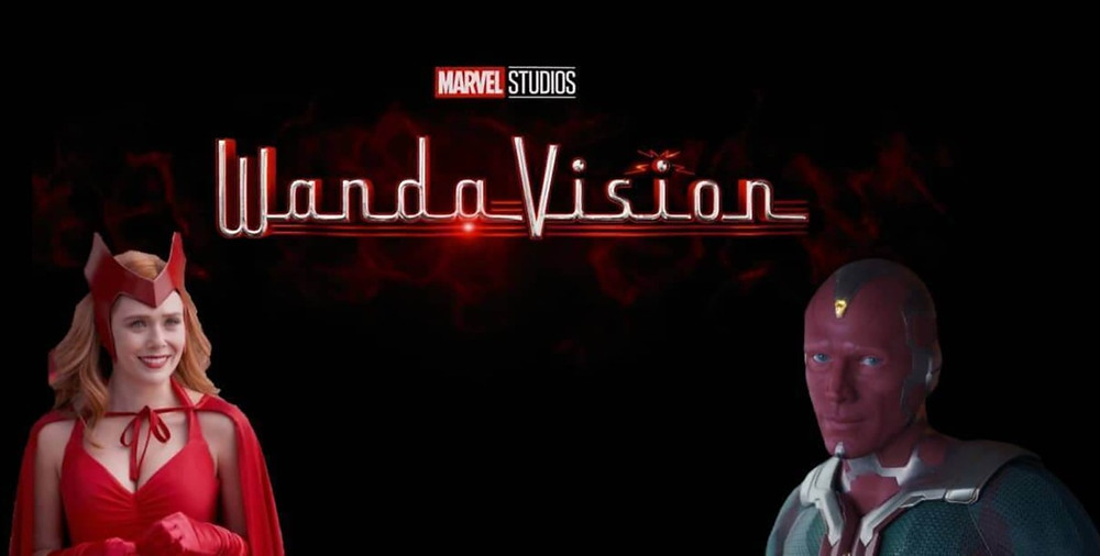 This is WandaVision's Logo Edit with inclusion of Wanda's Halloween costume and Vision.